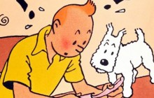 Website Tintin Illustration with Snowy