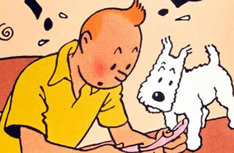 Website Tintin Illustration with Snowy
