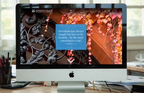 Newnham website displayed on iMac